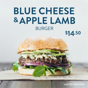 Blue Cheese Lamb Burger  INSTA FB