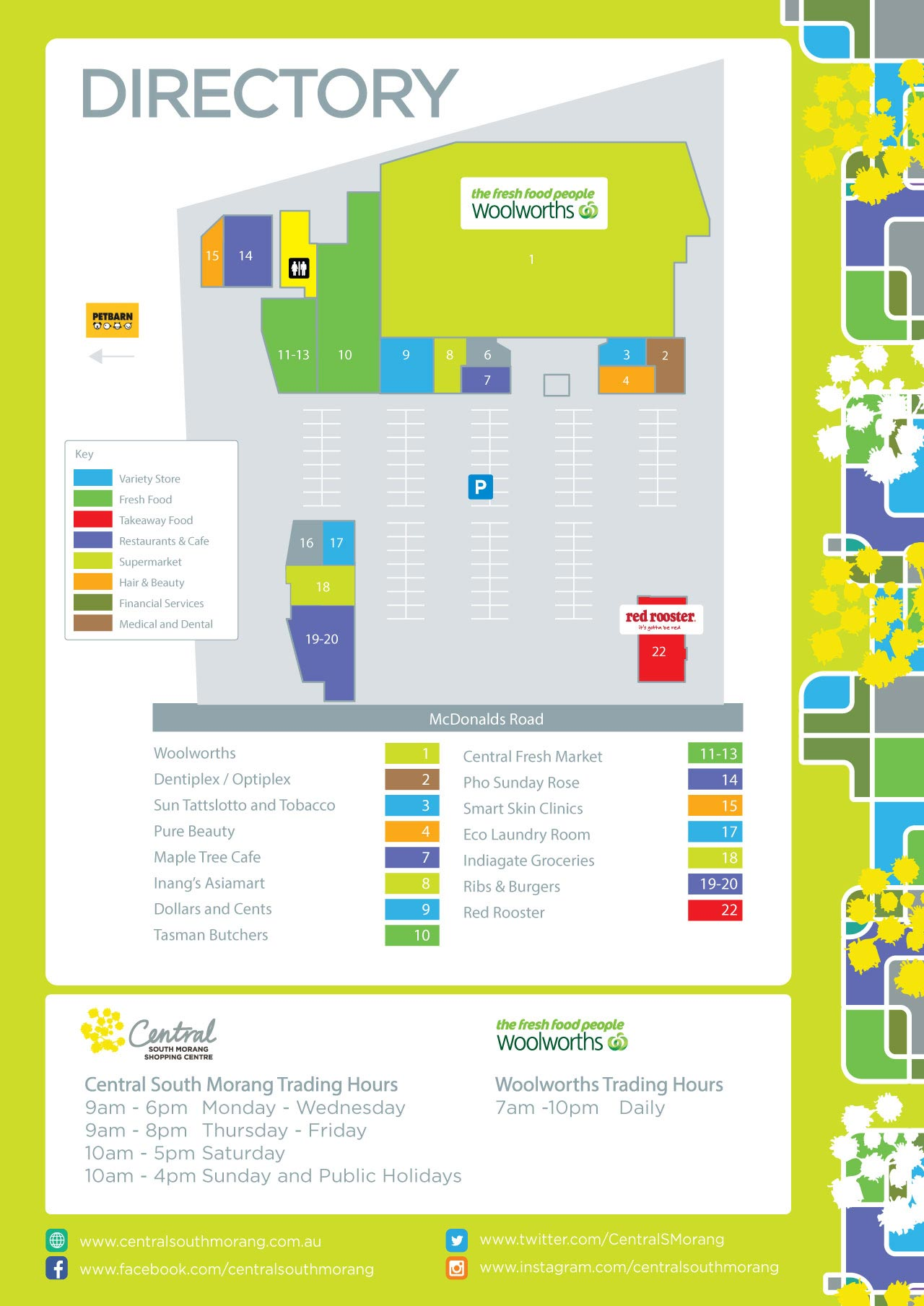 Central South Morang Centre Map