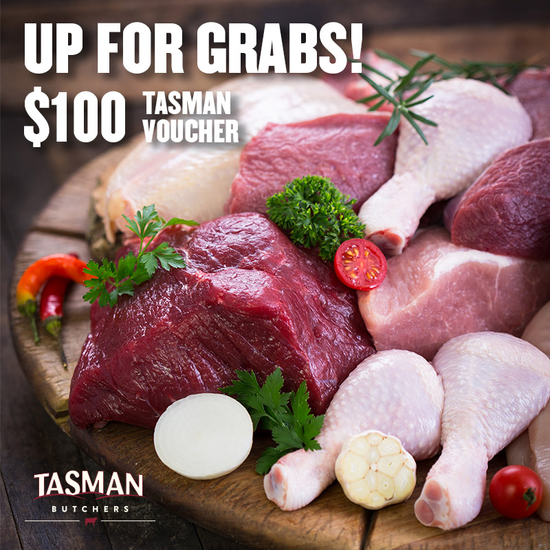 Enter To Win $100 Tasman Butchers Voucher